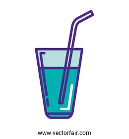 water cup glass with straw