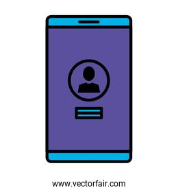 smartphone with acount user