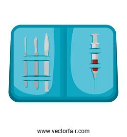 surgical kit tools icons
