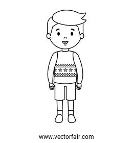 little boy with winter clothes