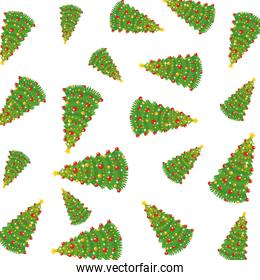 merry christmas trees pattern