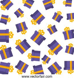 gifts boxes presents pattern