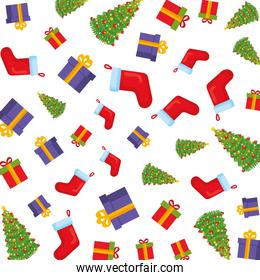 merry christmas and socks pattern