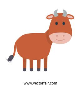 cute ox manger isolated icon