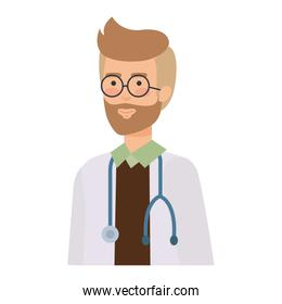 doctor with stethoscope character