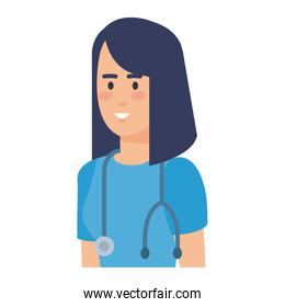 female practitioner with stethoscope character