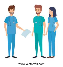 group of doctors medical staff