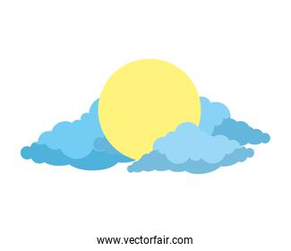 sun with clouds icon