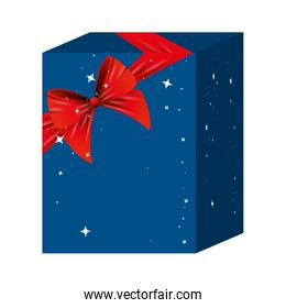 gift box present with red ribbon