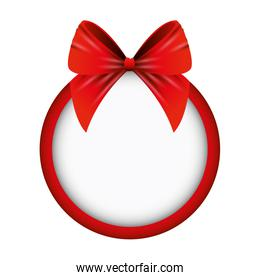 red bow ribbon tape decorative