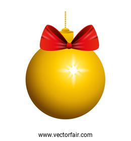christmas ball hanging isolated icon