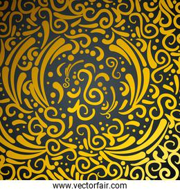 abstract and victorian golden pattern