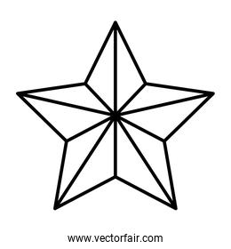 christmas ball with star shape hanging isolated icon