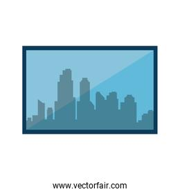 window with cityscape view