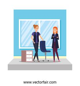business women with curriculum vitae