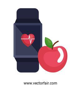 smartwatch with cardiology app and apple