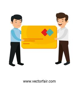 businessmen with credit card