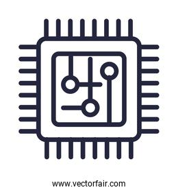 computer processor isolated icon vector illustrator