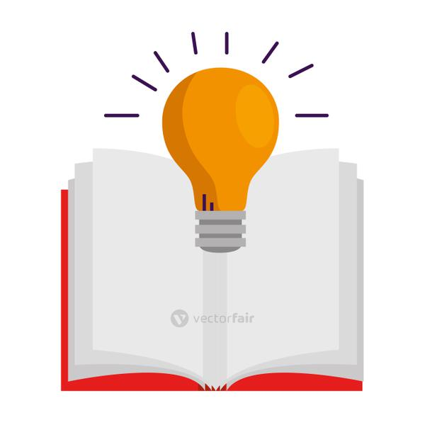 text book with bulb