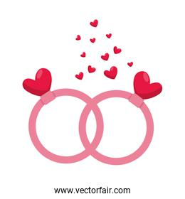 rings with hearts love