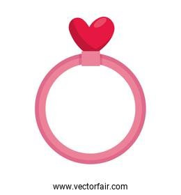 ring with heart love
