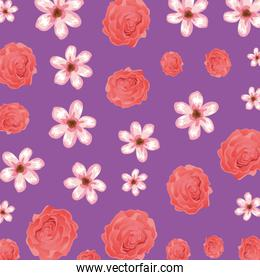 beautiful flowers and roses pattern