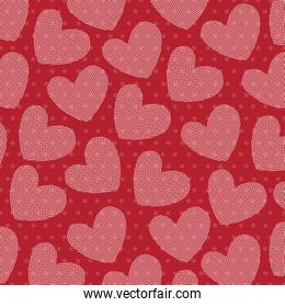 red hearts love pattern
