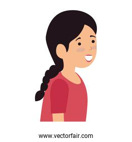 beautiful and young woman character