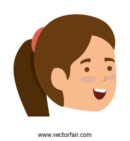 young woman head character