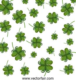 clovers leafs pattern background