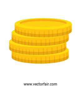 coins cash money isolated icon