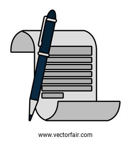 paper document with pen