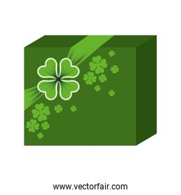 st patricks day gift with clovers