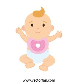 cute and little girl baby character