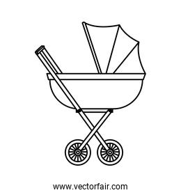 baby cart isolated icon