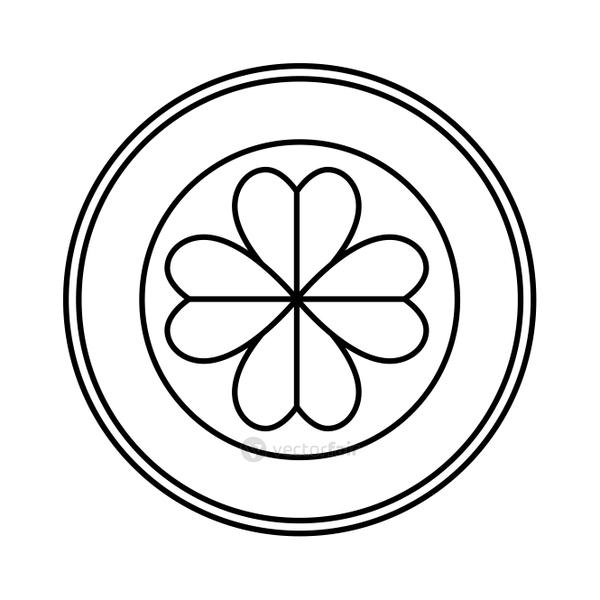 seal with st patrick clover leaf
