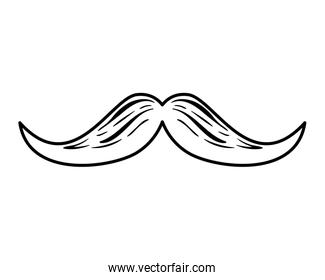 mustache style hipster accessory