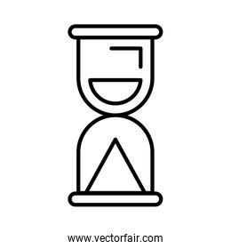 time hourglass isolated icon