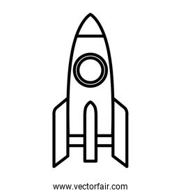 rocket launcher isolated icon