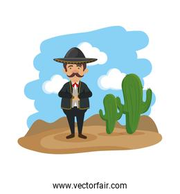 traditional mexican mariachi character
