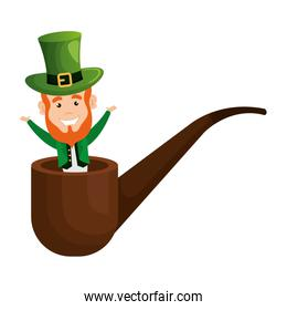leprechaun with pipe wooden