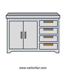 drawer wooden isolated icon