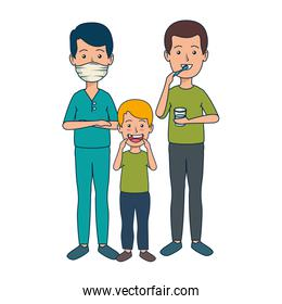 youth dentist with patients