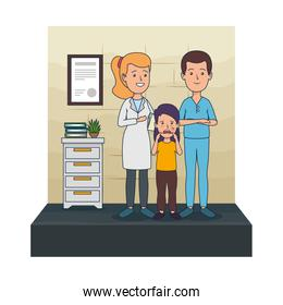 young dentists couple with patient