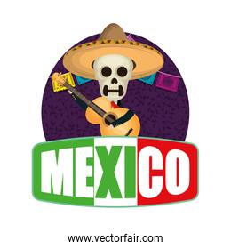 skeleton mexican with hat