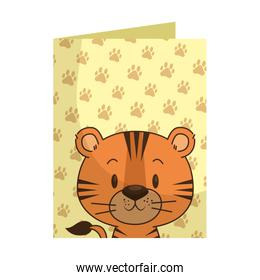 cute little tiger character
