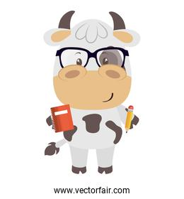 cute little cow character