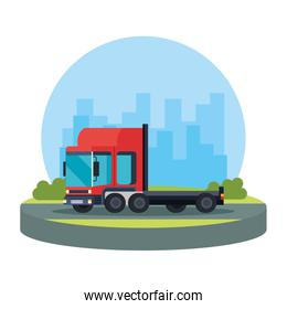 delivery service truck vehicle