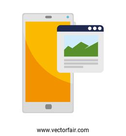 smartphone device with webpage template