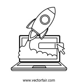 laptop computer with rocket launcher